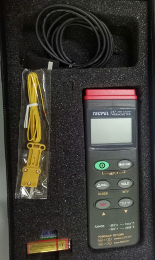 Digital  single channel  thermo data logger DTM-317 ( Nhiệt kế điện tử DTM 317 TECPEL giá rẻ )